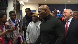 Mike Tyson Surprises Youth Boxers
