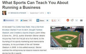 What Sports Can Teach You About Running a Business