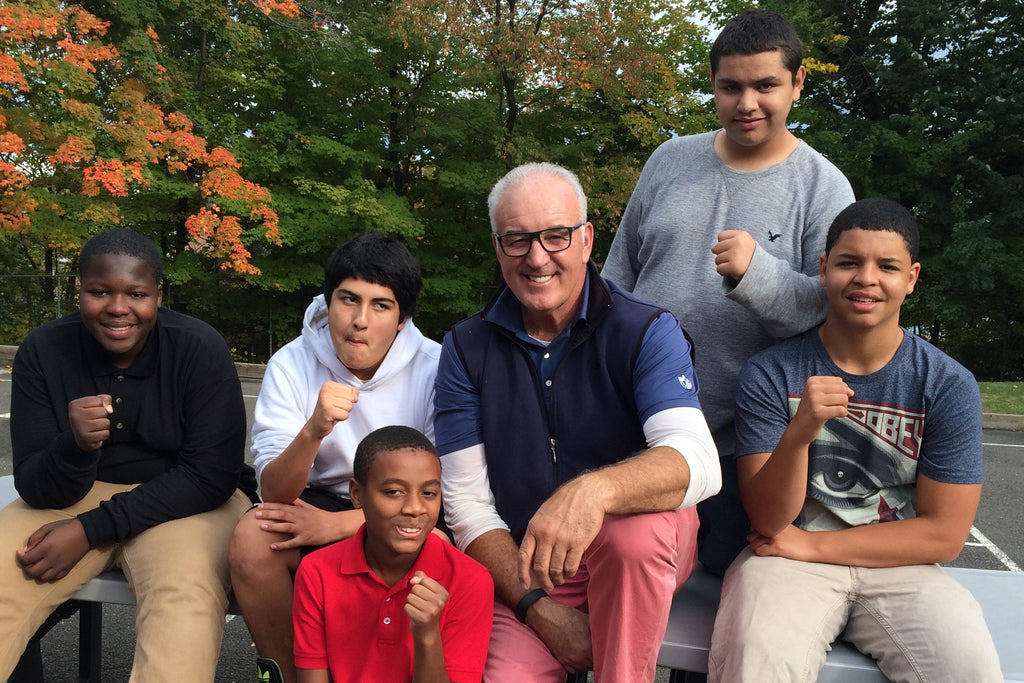 Gerry Cooney with YCS Children