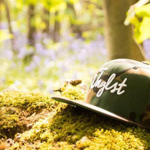 Junglist Clothing Camo Snapback in the Woods