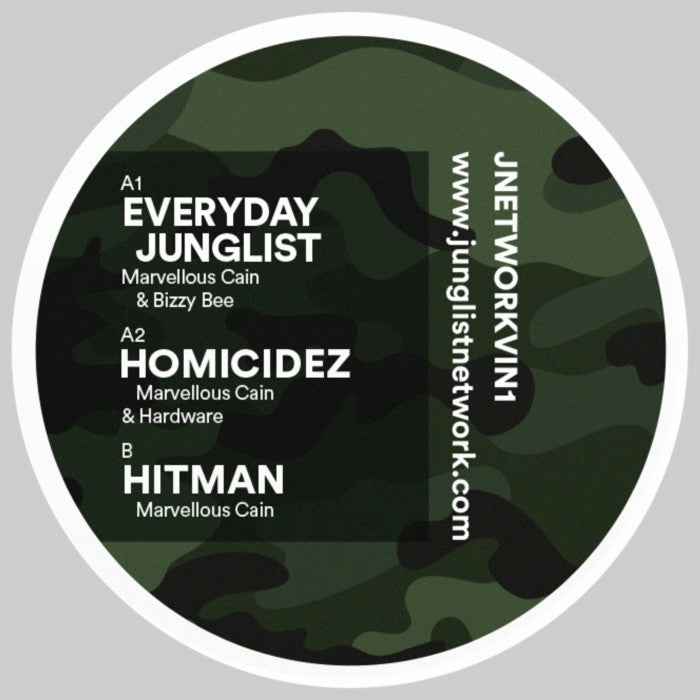 "Everyday Junglist / Hitman - Marvellous Cain - 12"" Vinyl"