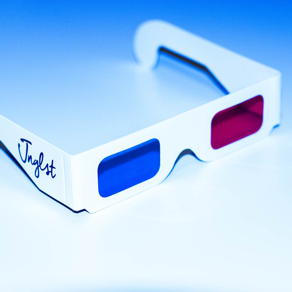 3d Red and Blue Glasses