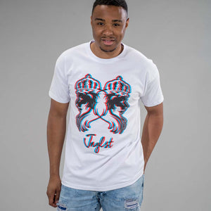 3D Jnglst Clothing Lions White T-Shirt
