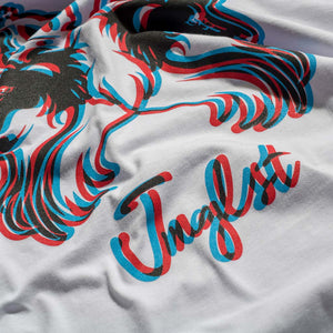 White Junglist T-Shirt Close up