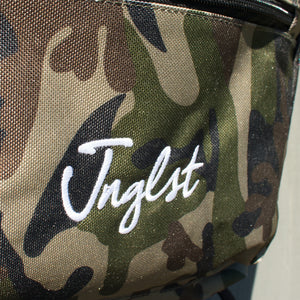 Close up of Junglist logo on Junglist Backpack