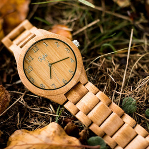 Junglist Bamboo Watch with Bamboo Strap