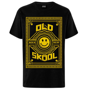 Black Tee with yellow old skool design