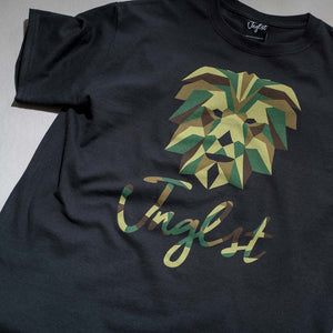 Black Geo the Jungle Lion T-Shirt