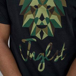 Black Geo the Junglist Lion T-Shirt