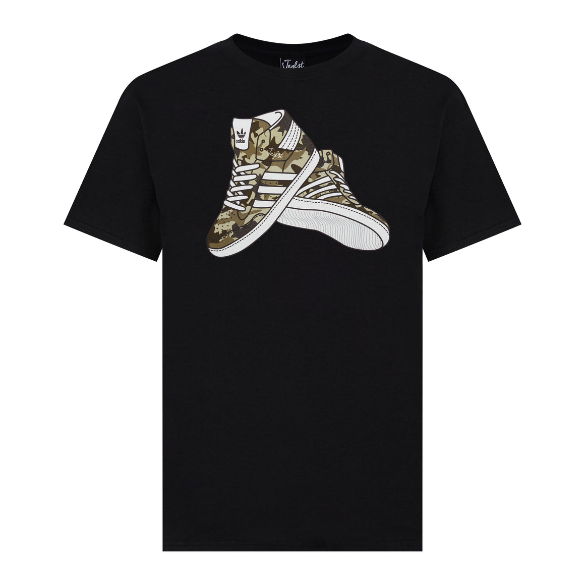 Black Junglist Trainers T-Shirt