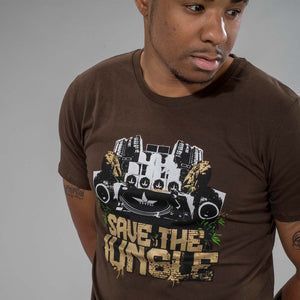 Close up of Brown THTC Save the Jungle T-Shirt