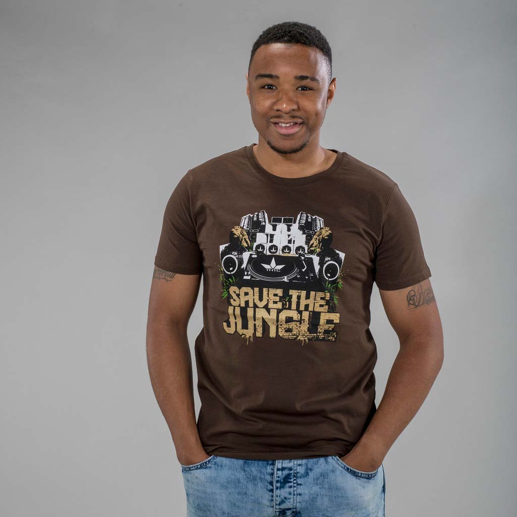 Brown Save the Jungle T-Shirt