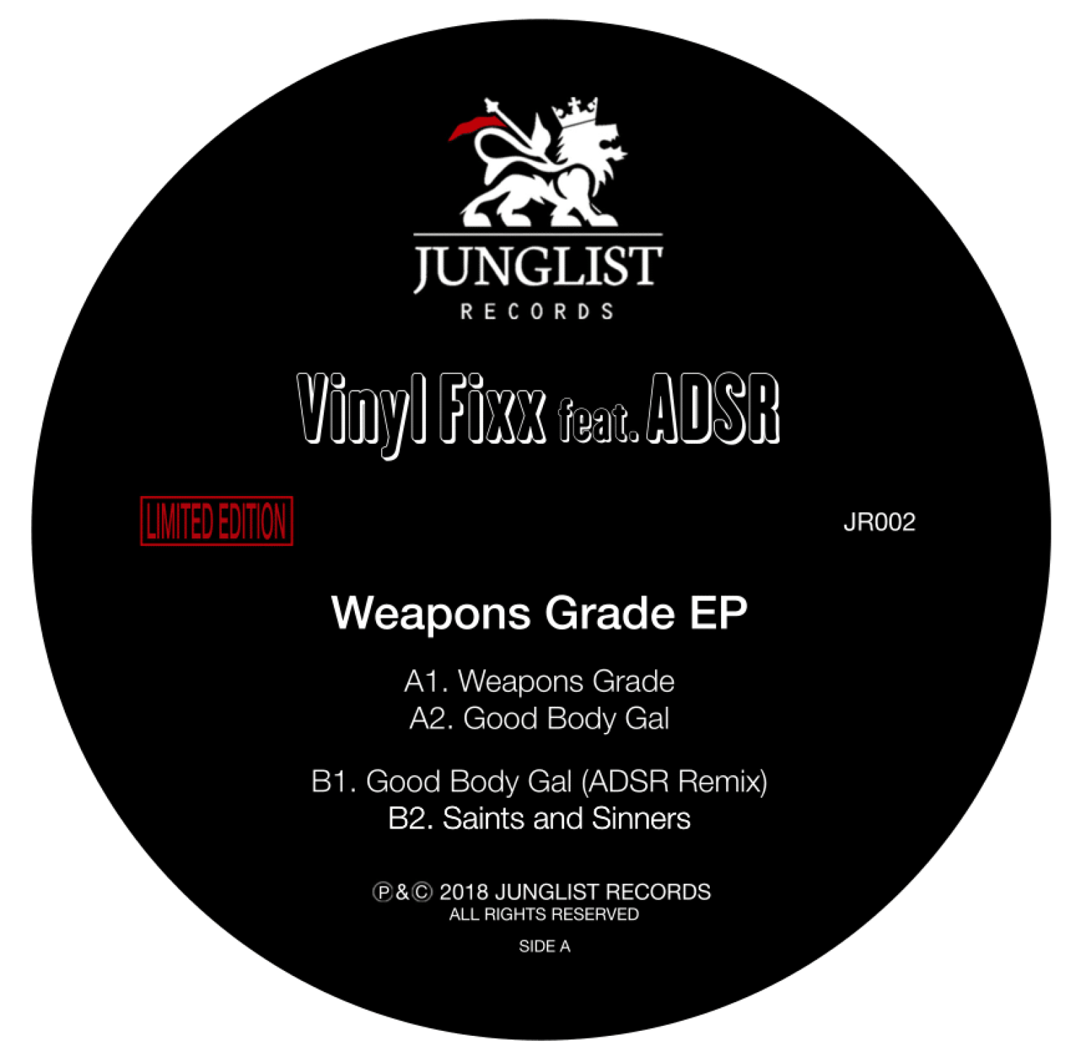 "Junglist Records - Weapons Grade EP - 12"" Vinyl"