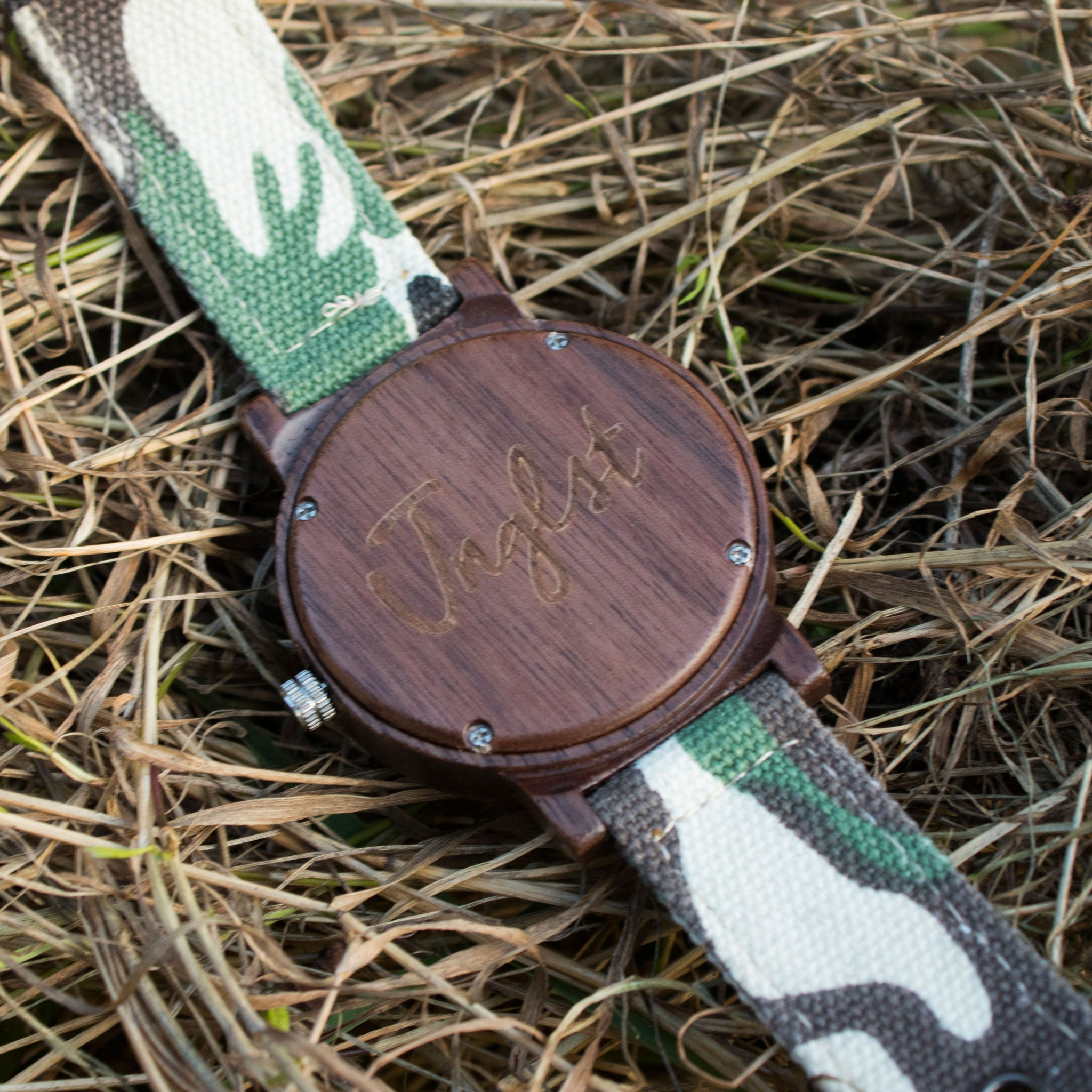 Bamboo Watch for Junglists engraved back