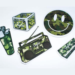 Camo Sticker Pack of 5 Jnglst Stickers