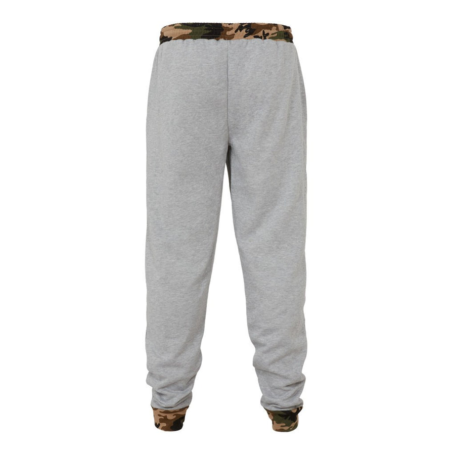Grey Junglist Joggers with Camo Detail