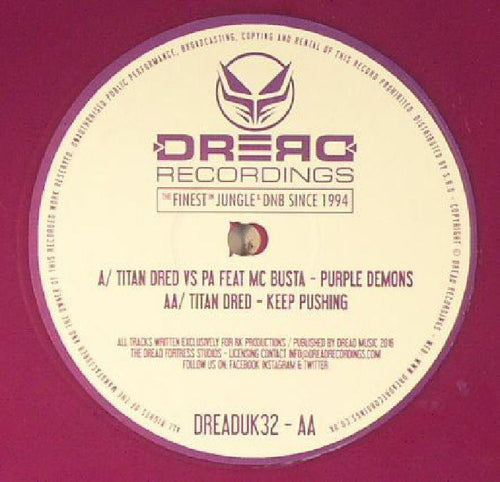 "Titan Dred - Purple Demons - 12"" Vinyl"