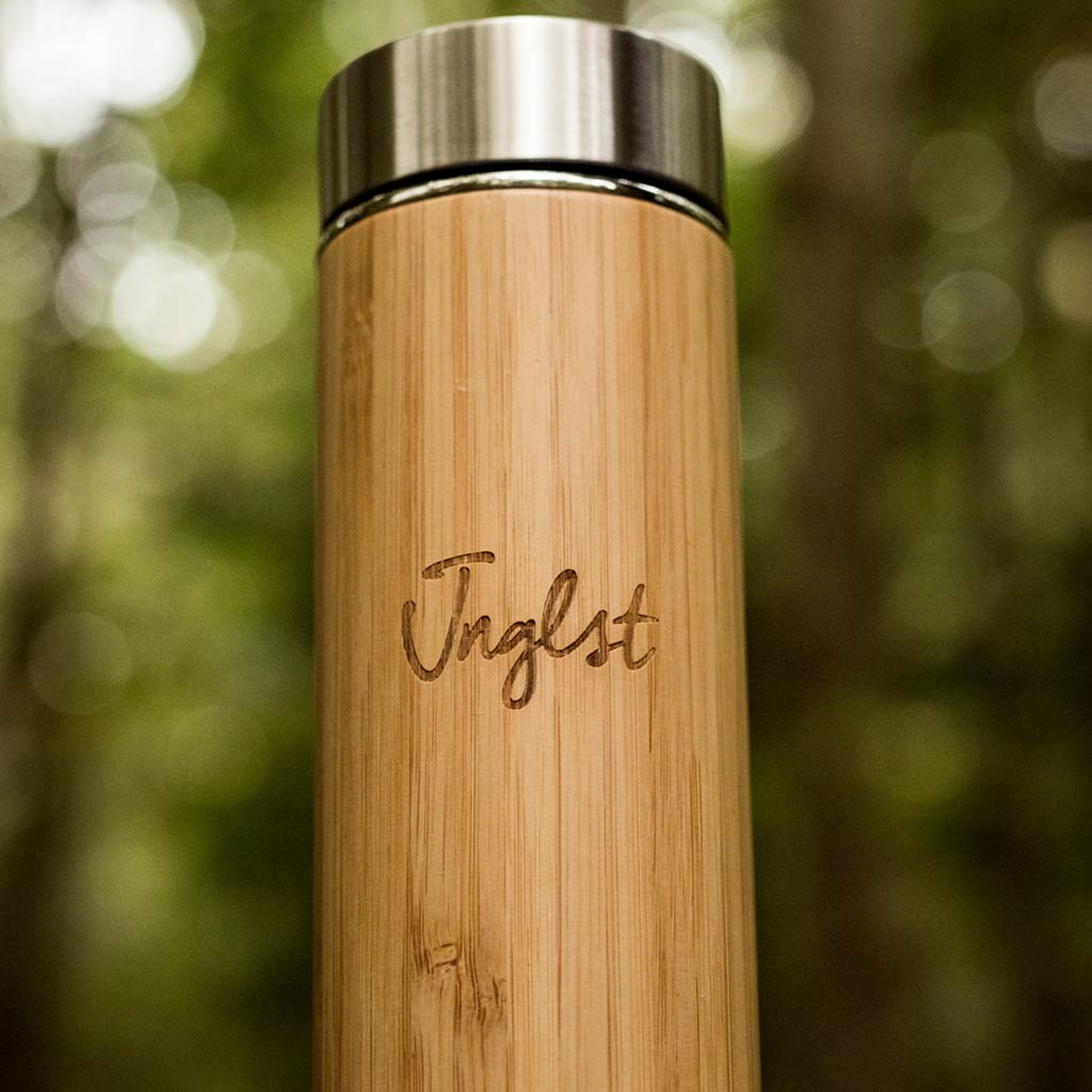 Bamboo Flask for Coffee or cold drinks by Junglist Clothing