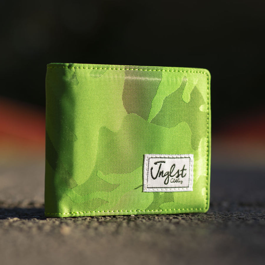 Light Green Camo Wallet for Junglists
