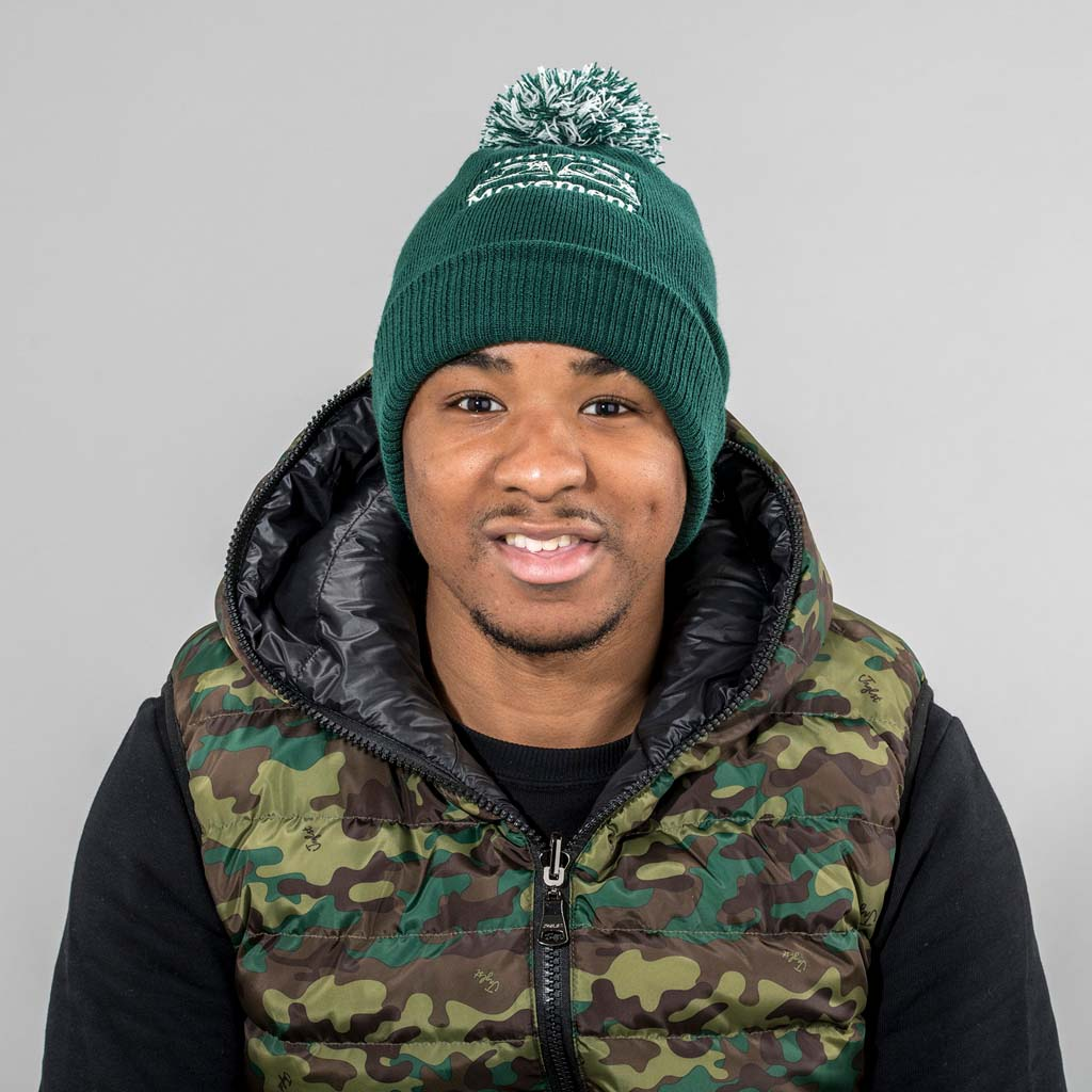 Junglist Movment Bottle Green Beanie