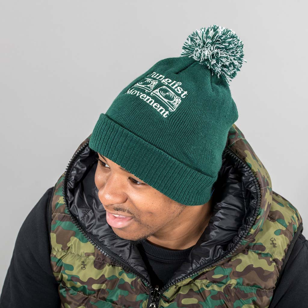 Junglist Movement Green Beanie