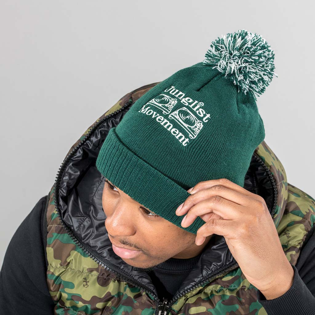 Bottle Green Official Junglist Movement Beanie