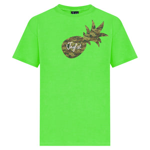 Lime Green Junglist Pineapple T-Shirt