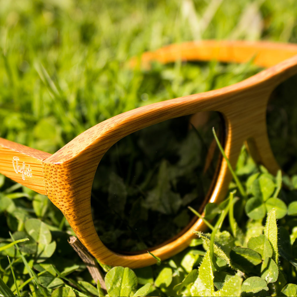 Eco Bamboo and Grey Lense Sunglasses