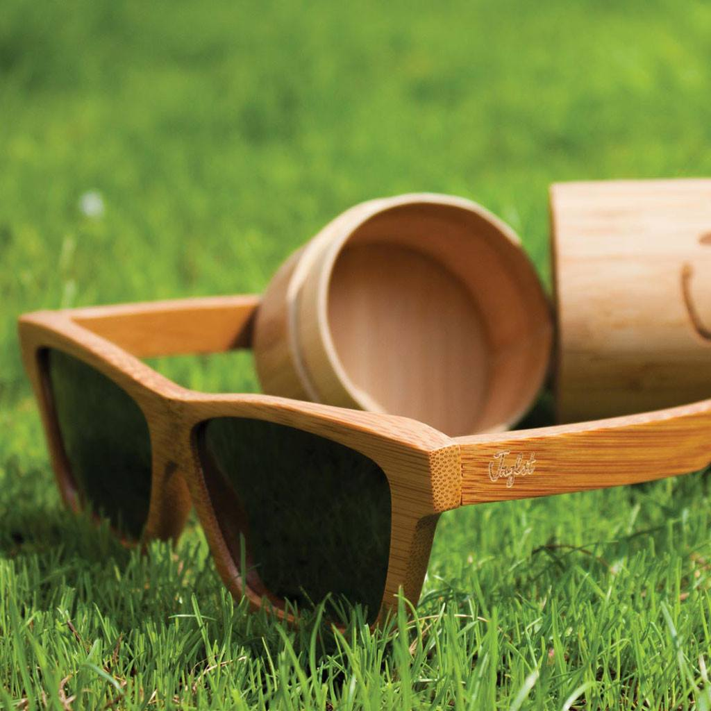 Grey Sunglasses by Junglist Clothing Made from Bamboo