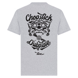 Chopstick Dubplate Tee in Grey from back