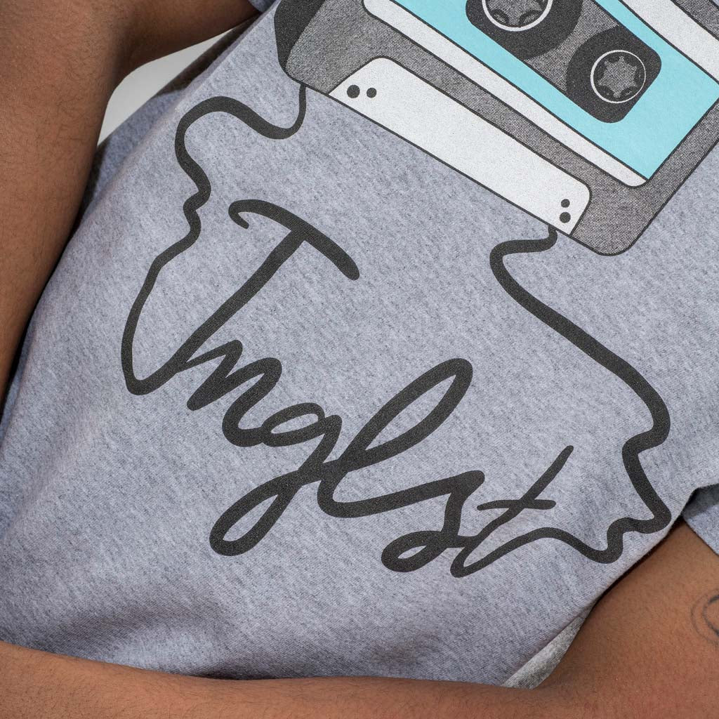 Close up of Mixtape Grey T-Shirt