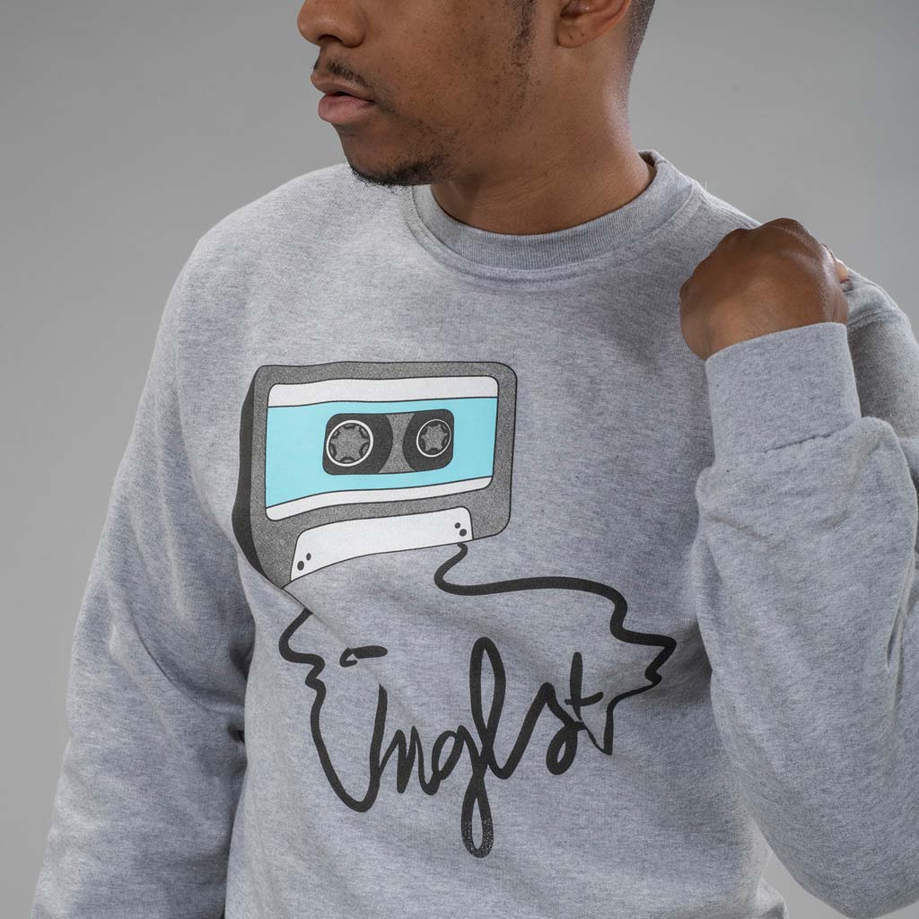 Grey Mixtape Sweatshirt from Jnglst Clothing