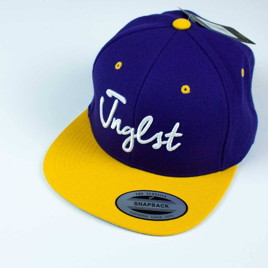 Purple Yellow 3d embroidered JNGLST Snapback
