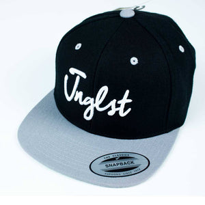 Grey and Black 3d embroidered JNGLST Snapback