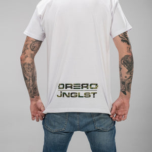 Dread Recordings Collab T-Shirt from the back in White