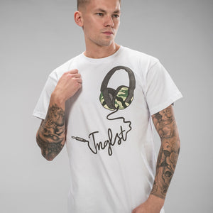 Jnglst Headphones White T-Shirt