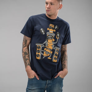 Navy Wise Monkeys T-shirt