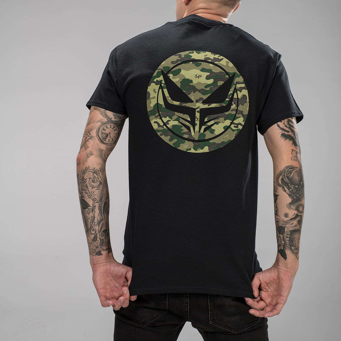 Dread Recordings Collab with Junglist Clothing Back Camo Print