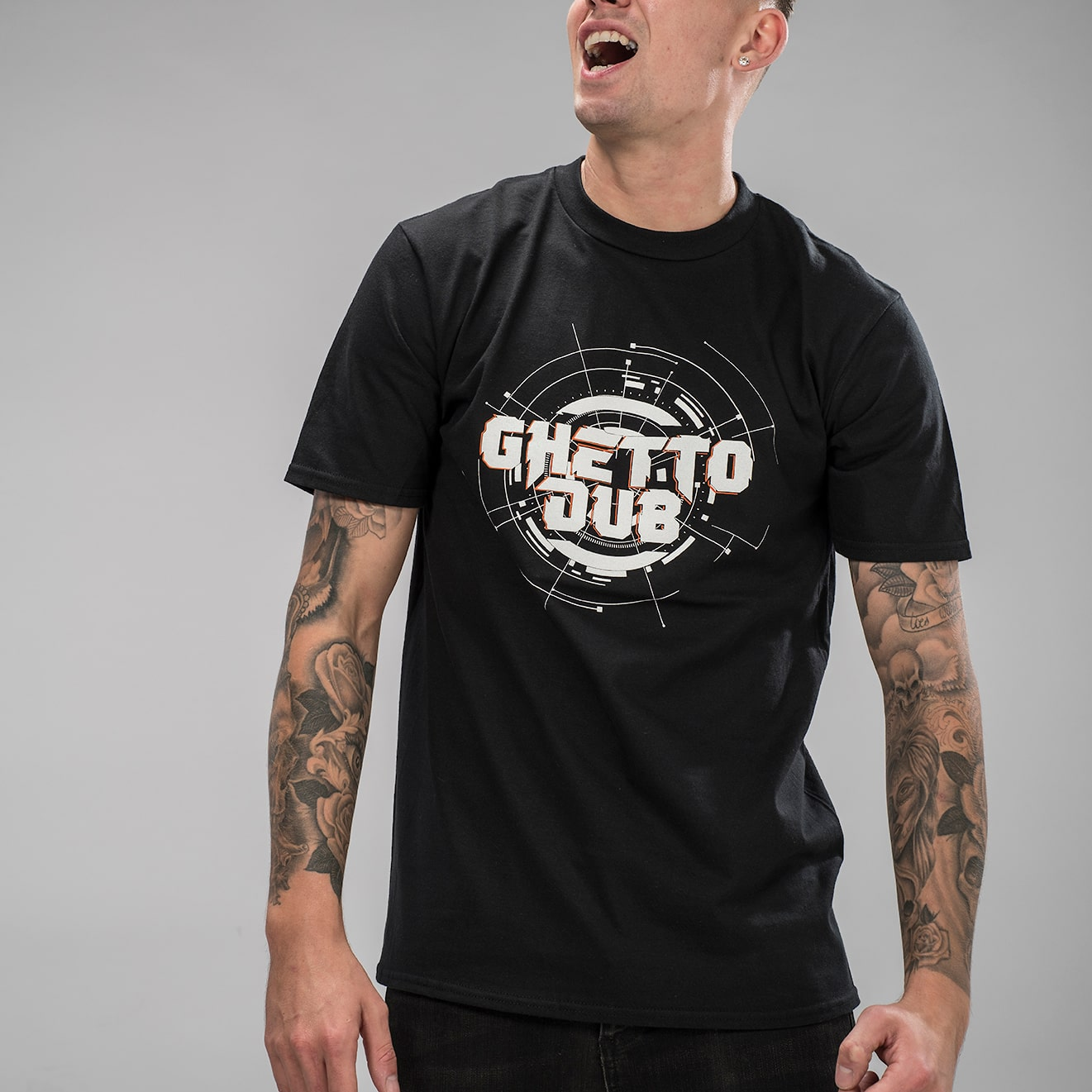 Ghetto Dub Black Tee