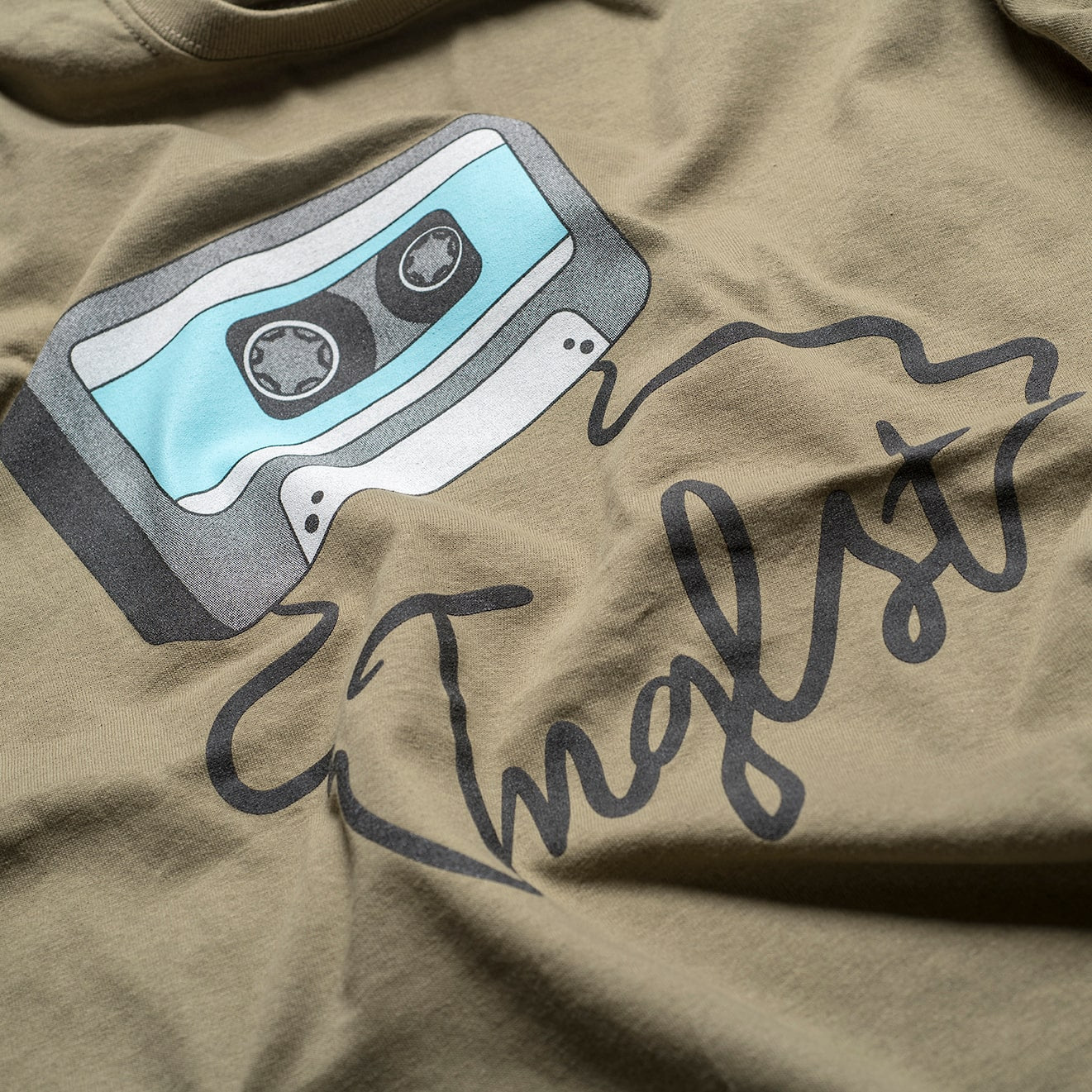Close up of Prairie Mixtape T-Shirt from Jnglst Clothing