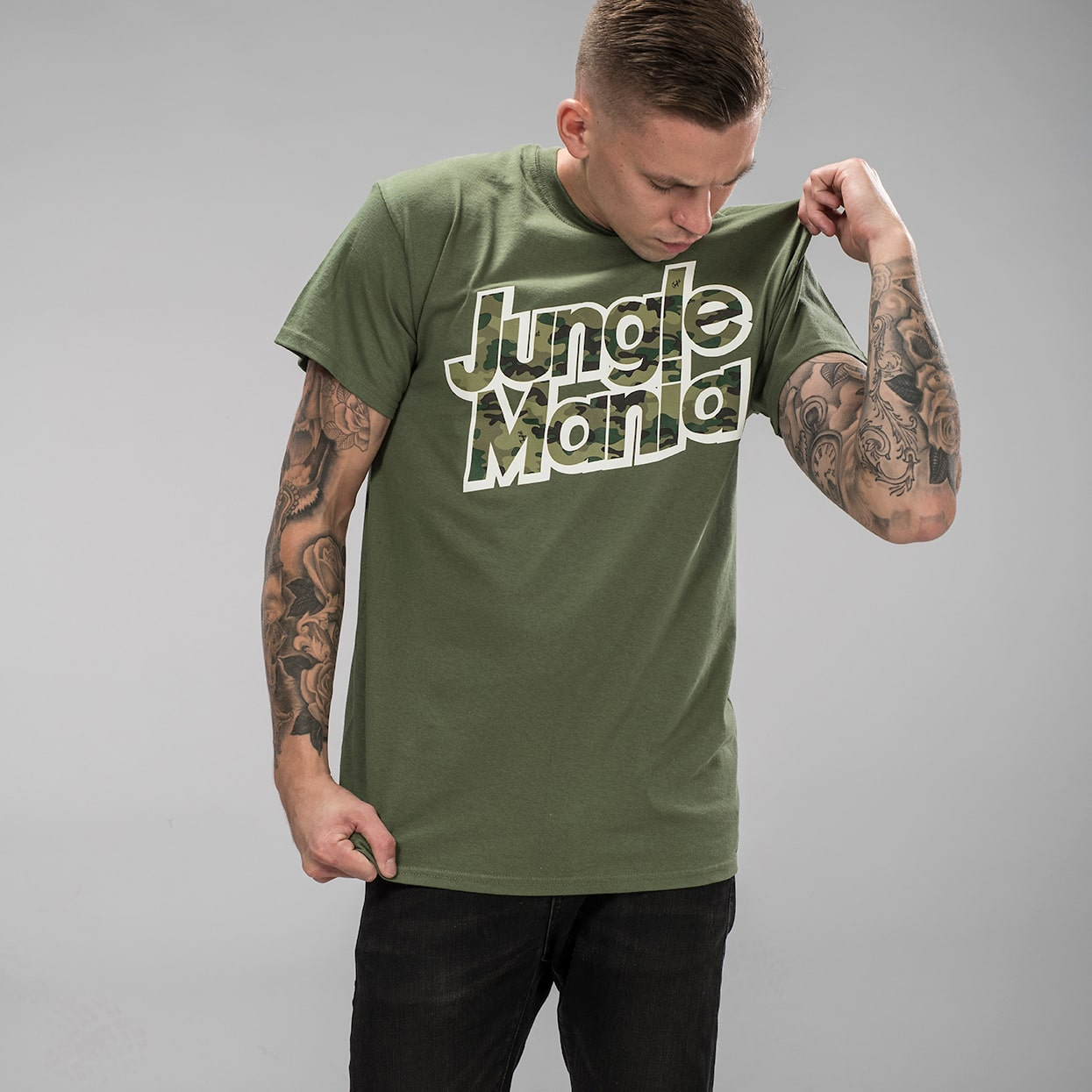 Jungle Mania T-Shirt in Green front shot