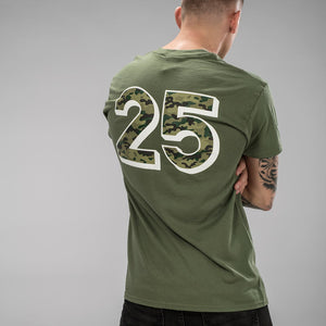 Jungle Mania 25 Years Camo Design on back