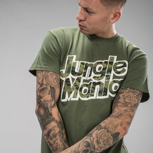 Green Jungle Mania T-Shirt with Camo design