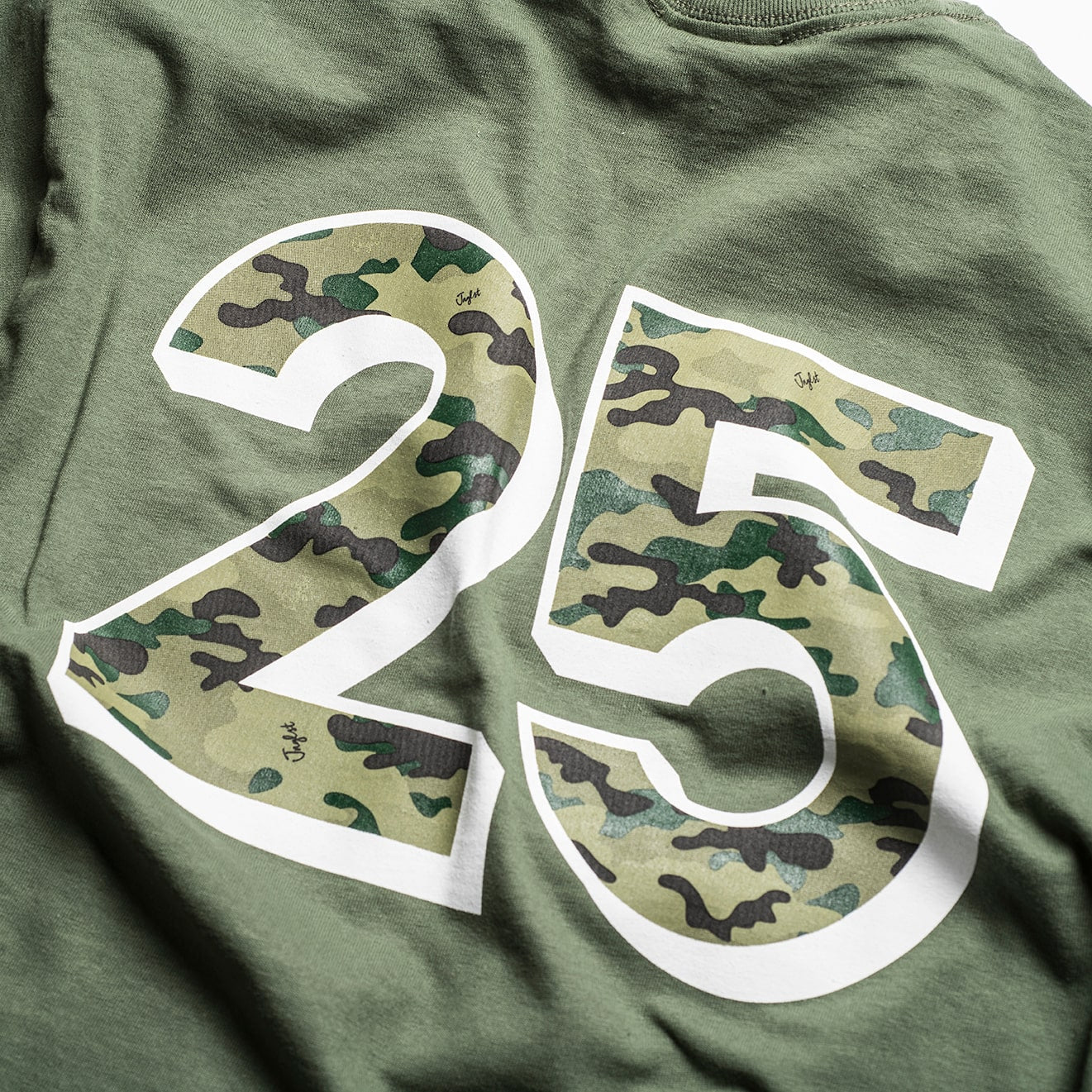Green 25 Camouflage design Close up