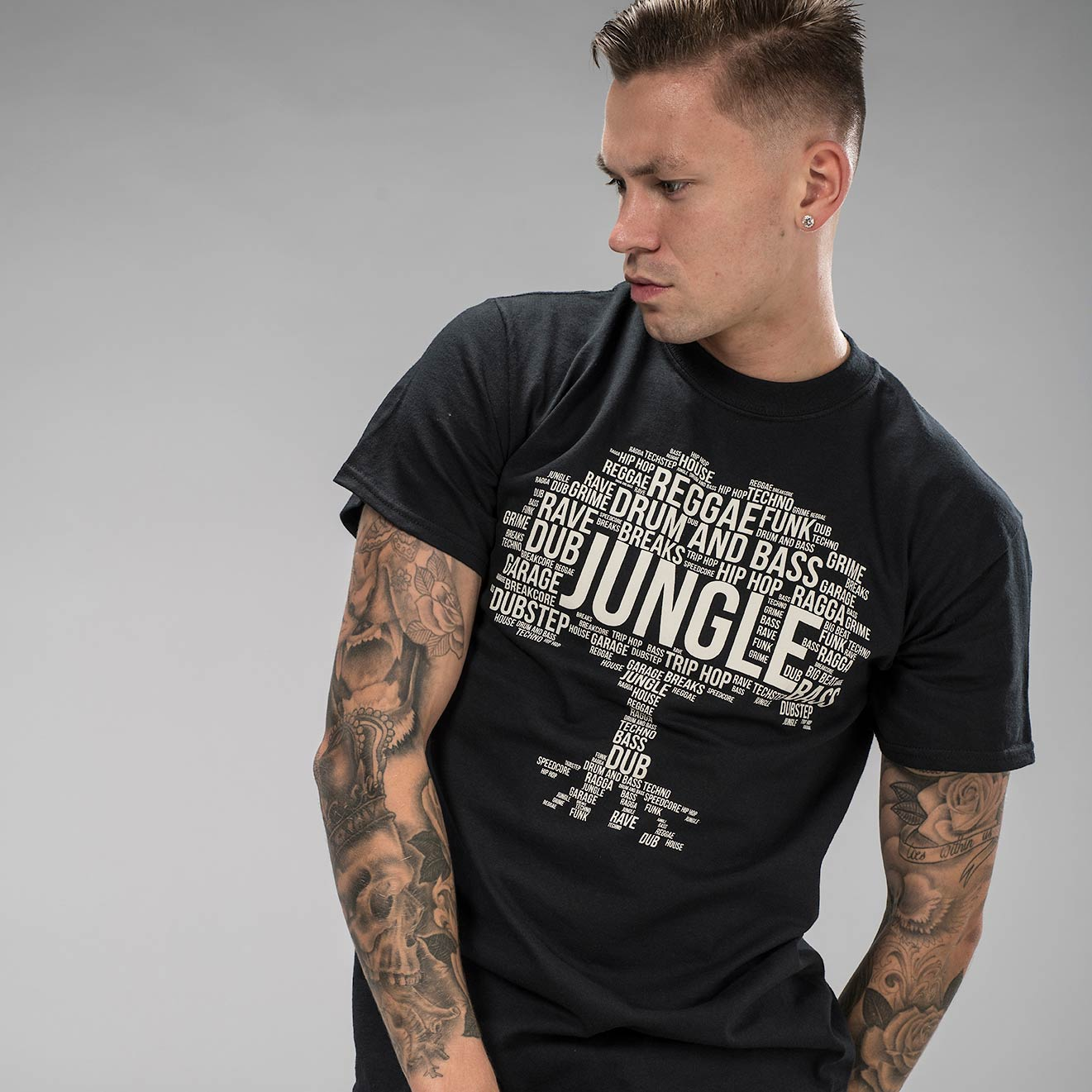 Jungle Roots T-Shirt in Black