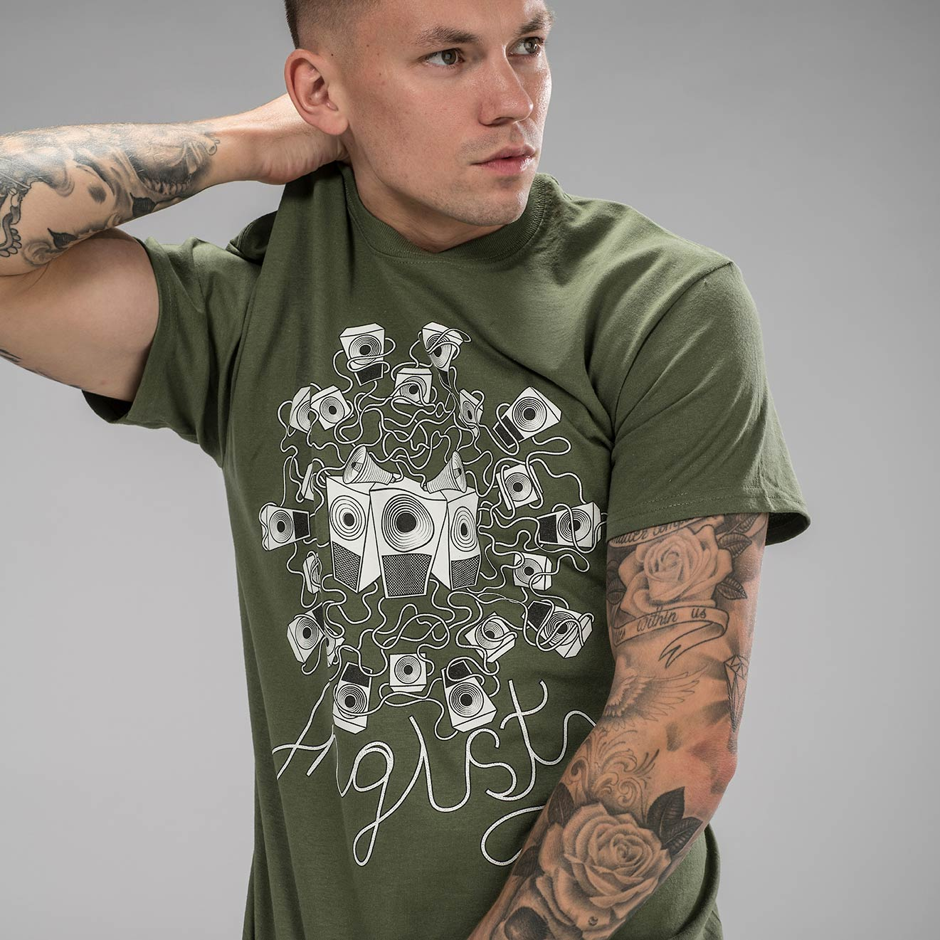 Green Junglist Soundsystem T-Shirt by Jnglst Clothing
