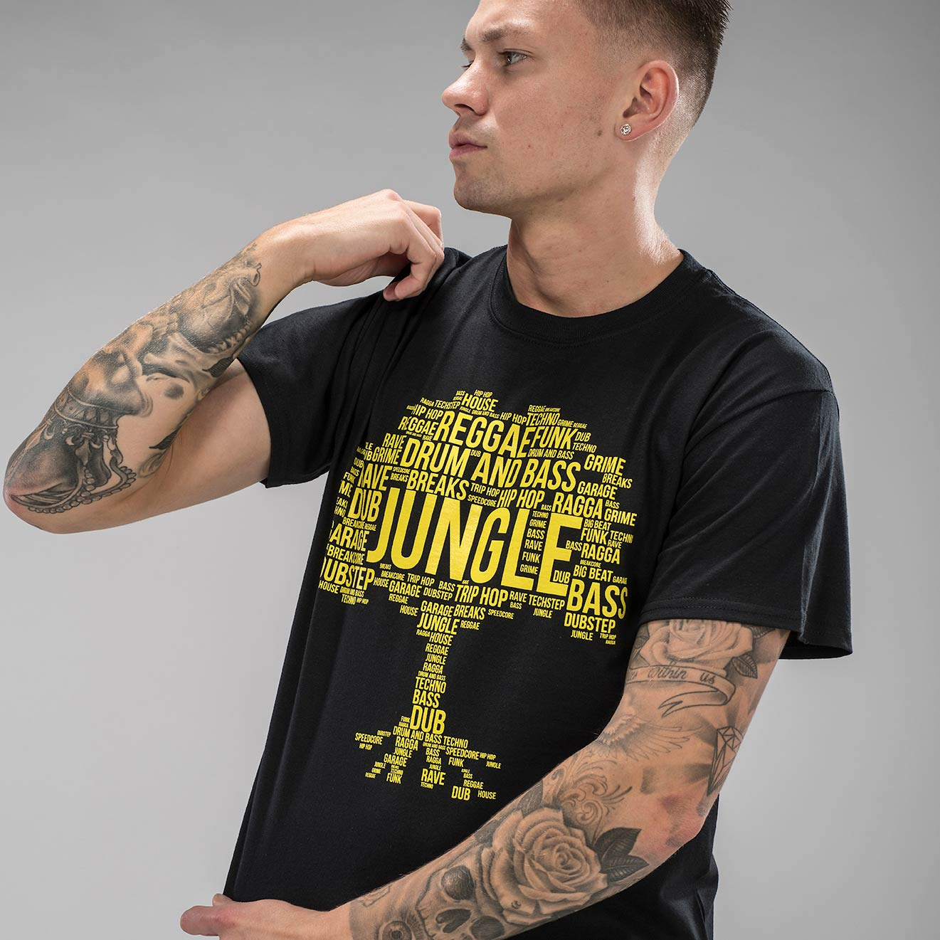 Jungle Roots Black T-Shirt