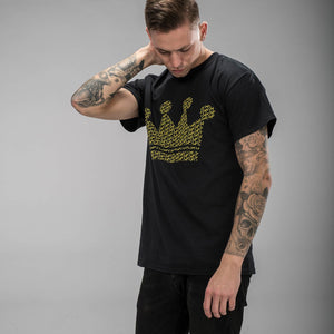 Black and Yellow Junglist Crown Tee