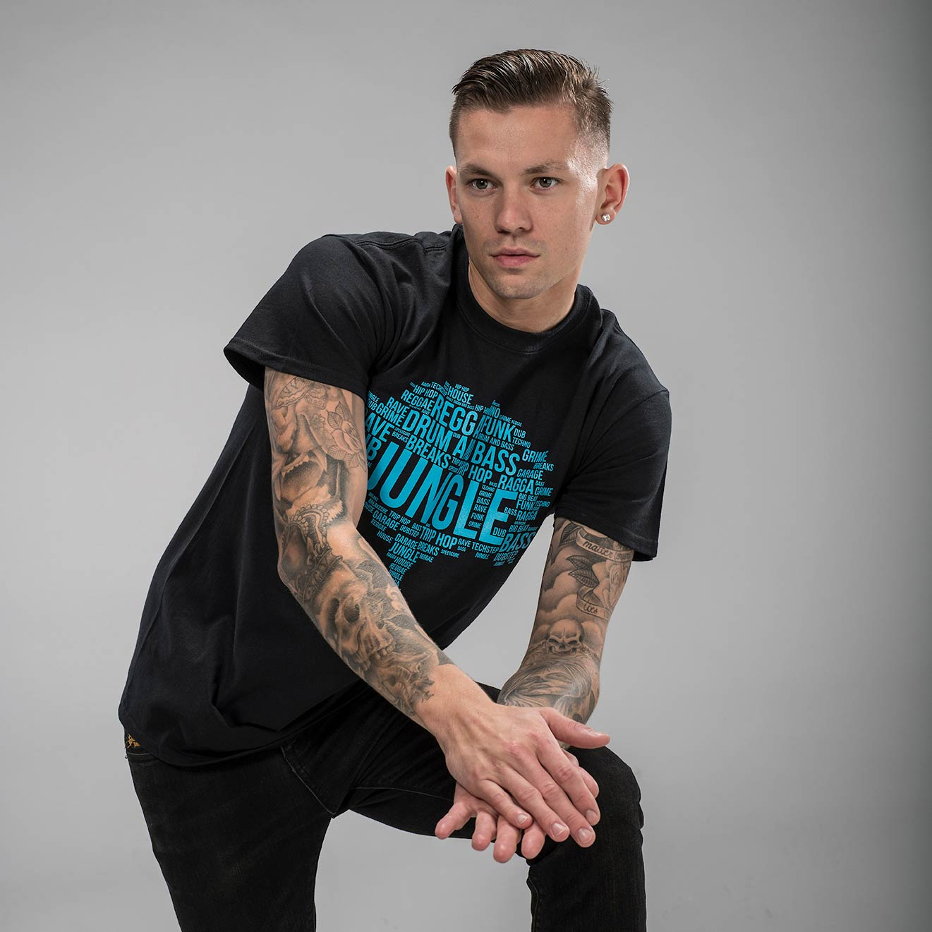 Blue ink Junglist Roots Tee