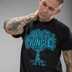 Black Jungle Roots with Blue Print